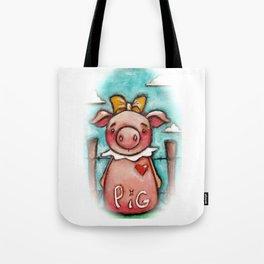 PIG - by Diane Duda Tote Bag