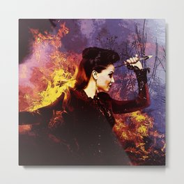 Once Upon A Time - The Evil Queen's Fire Metal Print