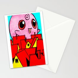 Pink Horror Stationery Cards