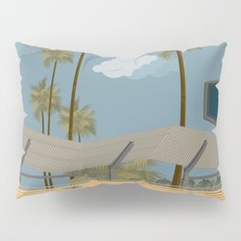 Dodger Stadium's Outfield Pavilion Pillow Sham