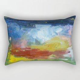 spring night fire Rectangular Pillow