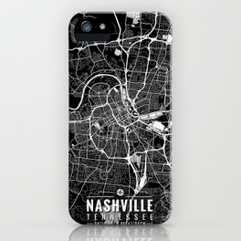 NASHVILLE Tennessee Map with Coordinates iPhone Case