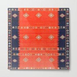 N231 - Oriental Heritage Traditional Colored Boho Moroccan Stlye Metal Print