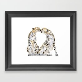 cheetah kiss two Framed Art Print