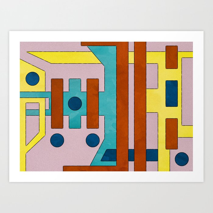 Raygun Capacitor - Abstract Composition Art Print