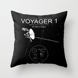 Voyager 1-Humanity's Farthest Spacecraft-40 Years in Space Throw Pillow