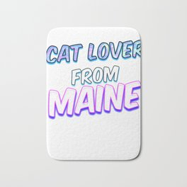 Dog Lover From Maine Bath Mat