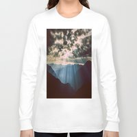 mountains Long Sleeve T-shirts featuring mountainS Dark Sunset by 2sweet4words Designs