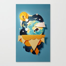 Connecting Planets Canvas Print