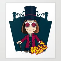 willy wonka Art Prints featuring Willy Wonka by 7pk2 online