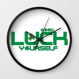 Good Luck Yourself Vintage St Patricks Day Wall Clock