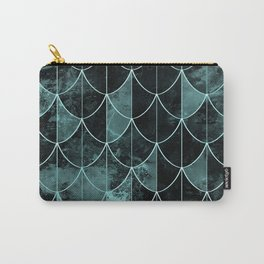Mermaid scales. Mint and black. Carry-All Pouch