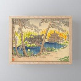 Tokurik Tomikichiro Scenes of Sacred Places and Historic Landmarks-Rokuonji Temple at Kinkaku Framed Mini Art Print