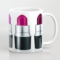 lipstick Mugs featuring Lipstick by I Love Decor