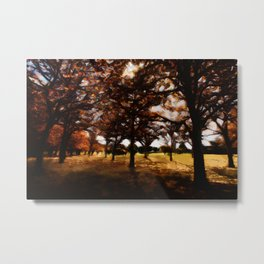 Autumn Forest Painting Metal Print