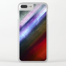 Zenith Sky Streaks: Fantasy and Sci-Fi Art Clear iPhone Case