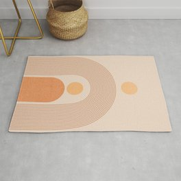 Abstraction_SUN_LINE_MOUNTAINS_POP_ART_Minimalism_027C Rug