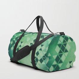 Forest Green -  Geometric Triangle Pattern Duffle Bag
