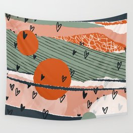 Paper Hearts Wall Tapestry