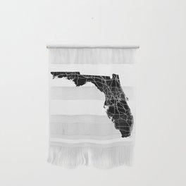 Florida Black Map Wall Hanging