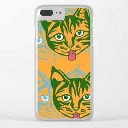 Mollycat Orange Clear iPhone Case