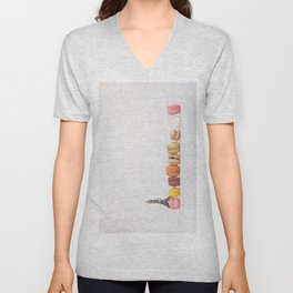 Paris, macarons and the eiffel tower Unisex V-Neck