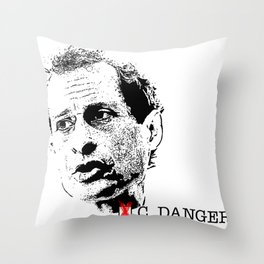 Vote Carlos Danger Throw Pillow