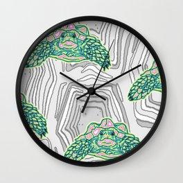 Tortuga Trippy Tortoise Pattern Wall Clock