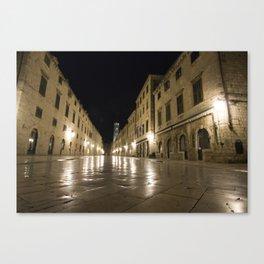 Dubrovnik at Night Canvas Print