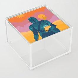 """Mando and Child"" by Sabrena Khadija Acrylic Box"