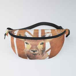 Proud deer in forest - Watercolor Illustration Fanny Pack