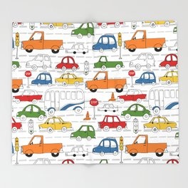 Busy Traffic Pattern Throw Blanket