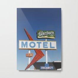 Western Motel Print Metal Print