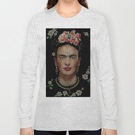 Frida Kahlo dots Long Sleeve T-shirt