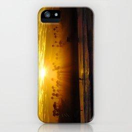 Misty Sunrise * Huntington Beach, California iPhone Case