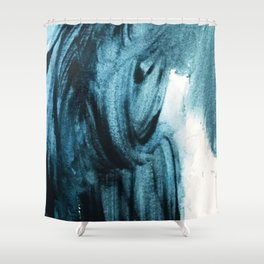 1 2 3 1 : blue abstract Shower Curtain