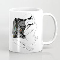 trooper Mugs featuring Boombox trooper by Cisternas