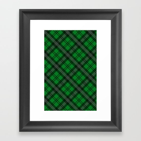 Scottish Plaid (Tartan) - Green Framed Art Print