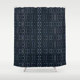 Shibori Glow Shower Curtain