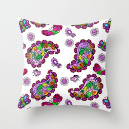 Butterfly Paisely Throw Pillow