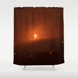 Solar Eclipse over Somerset, 2015 Shower Curtain