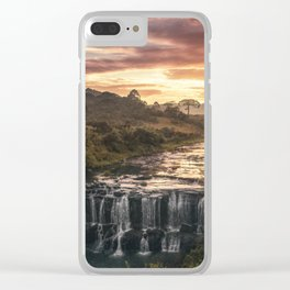 Fire & Water Clear iPhone Case