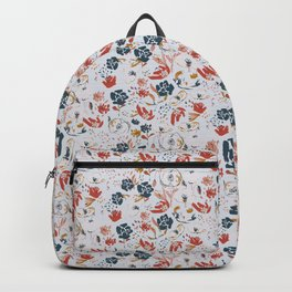 watercolor floral bouquet, poppies pattern Backpack
