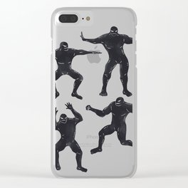 Symbiote Dance Club Clear iPhone Case