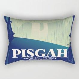 North Carolina Pisgah national park travel poster Rectangular Pillow