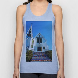 Easter Colored Church Steps Unisex Tank Top