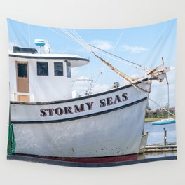 Stormy Seas - Fishing Vessel Wall Tapestry