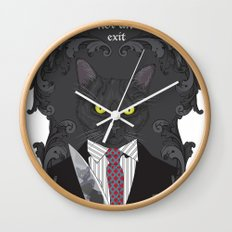 American Psycho Kitty Wall Clock