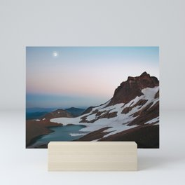 Alpine Lake Moonrise Mini Art Print
