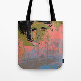 As I walk through the valley of the shadow of death Tote Bag
